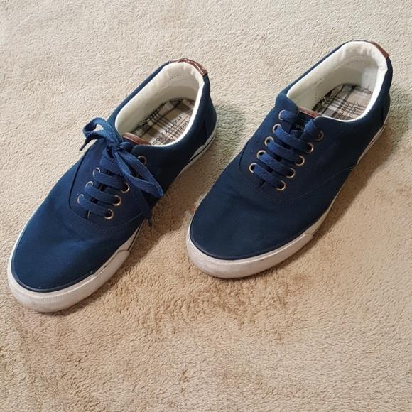 American Eagle Navy Canvas Shoes Sz